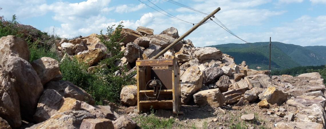 Mining  in Albiano